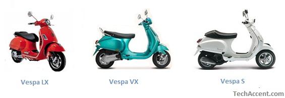 Bikes Vs Scooters Piaggio Vespa LX Vs Vespa VX